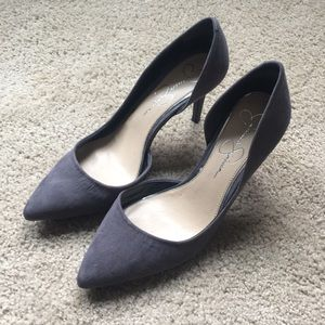 Gray Suede Jessica Simpson Pumps - Size 8.5